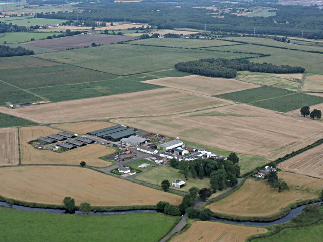 Blackstoun Farm from the air