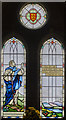 SK8770 : Stained glass window, All Saints' church, Harby by Julian P Guffogg