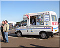 TM3295 : Ice cream van at Seething Airfield by Evelyn Simak