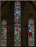SK8770 : East window, All Saints' church, Harby by Julian P Guffogg