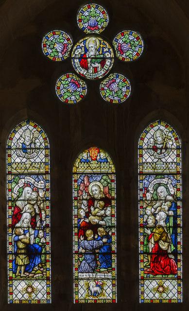 West window, All Saints' church, Harby