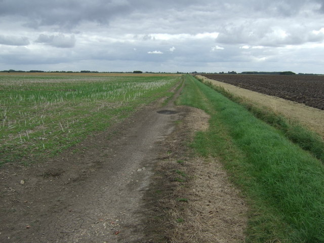 Farm track off Thorpe Tilney Drove