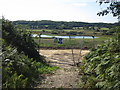 TQ7510 : Closed Bridleway by Combe Valley Way construction by Oast House Archive