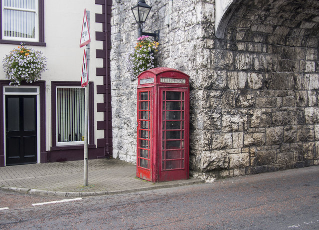 Red Telephone Box, Carnlough