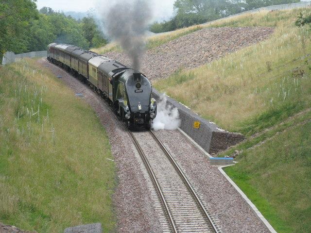 The Royal Train approaching Gorebridge