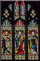 TF1169 : West window, St Lawrence's church, Bardney by Julian P Guffogg