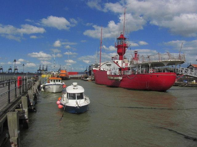 Harwich - Lightship LV18 as seen from Ha'penny Pier