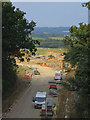 TQ7409 : Combe Valley Way construction by Oast House Archive