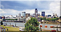 TQ3380 : City of London from south of Tower Bridge, 1998 by Ben Brooksbank