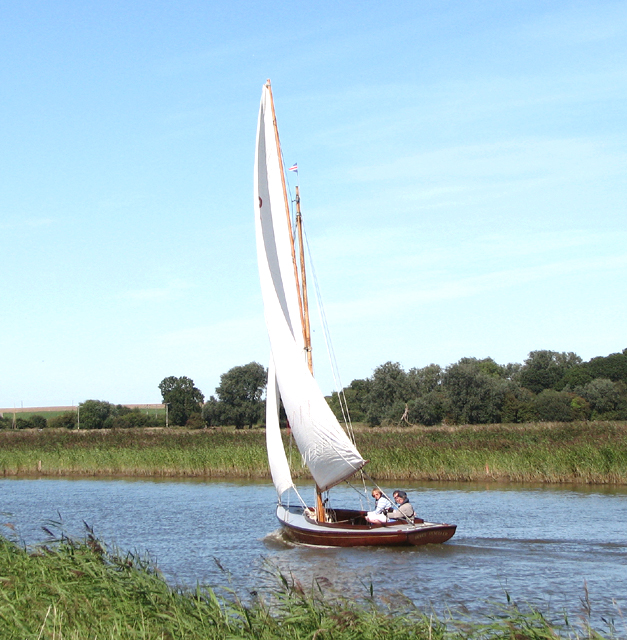 Sailing boat on the River Bure