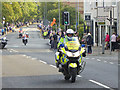 NY9363 : Motor bike outriders, Aviva Tour of Britain by Oliver Dixon