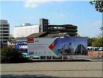 SU1584 : View to Carfax Street car park, Swindon by Brian Robert Marshall