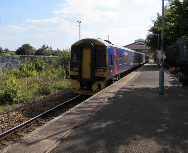 Warminster train at Frome railway station