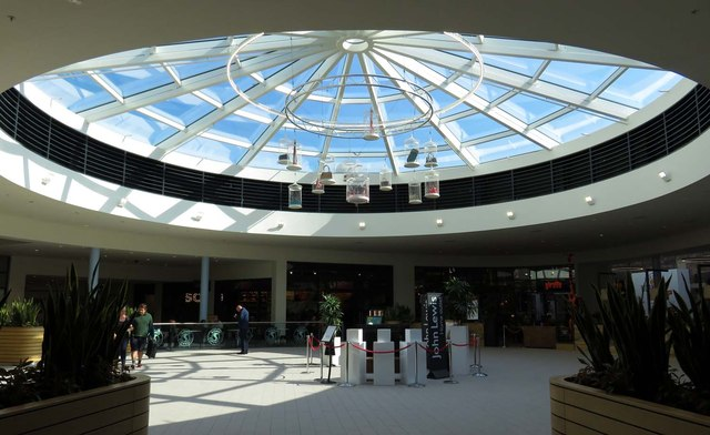 Glass roof in the Great Western Outlet Village