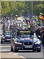NY9363 : Team cars, Aviva Tour of Britain by Oliver Dixon