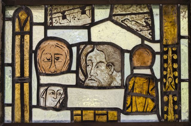Medieval stained glass window, St Gregory's church, Fledborough