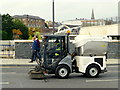 H4572 : Mechanical street sweeper, Drumragh Avenue, Omagh by Kenneth  Allen