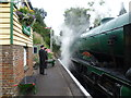 SU6635 : Getting ready for departure at Medstead & Four Marks station by Marathon