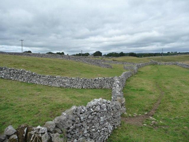 Drystone walls, Middleton Dale