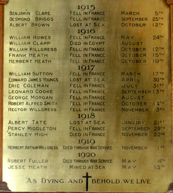 St Margaret's church, Upton (war memorial)