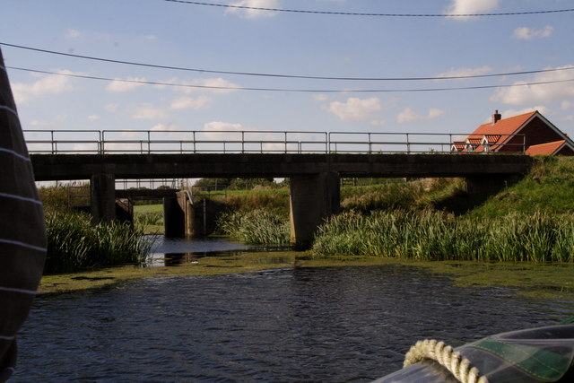 Billinghay Skirth Sluice from the River Witham near Witham House Farm