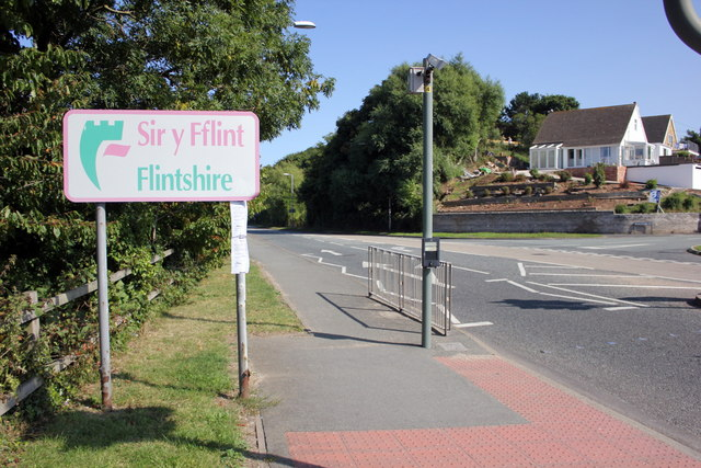 The Flintshire County Boundary at Gronant