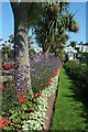 SX9063 : Palms and flowerbeds, Torquay by Derek Harper