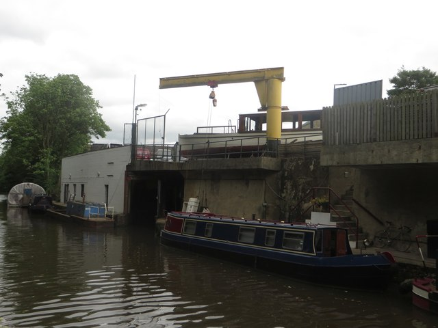 Boatyard on the Leeds and Liverpool Canal