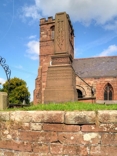 Thornton-le-Moors War Memorial and St Mary's Church
