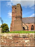 SJ4474 : Thornton-le-Moors War Memorial and St Mary's Church by David Dixon