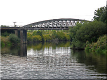 SE4326 : Disused railway bridge over the River Aire by Chris Allen