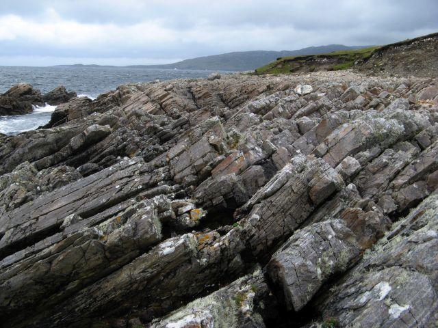 Coastal rock exposure