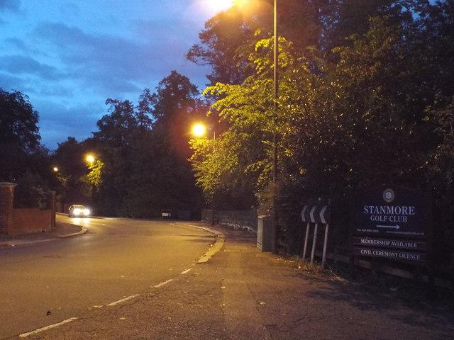 Night falls over Gordon Avenue, Stanmore