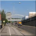 SK5438 : Tramway bridge over Clifton Boulevard by John Sutton