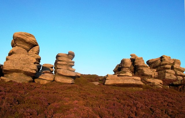 The Crow Stones in the Evening