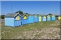 TQ0301 : Blue beach huts, Littlehampton by Alan Hunt