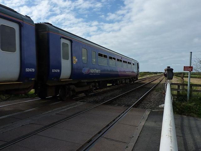 Northern Rail service at Saltcoats crossing