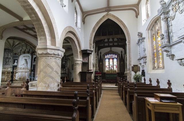 Interior, Ss Peter & Paul church, Belton