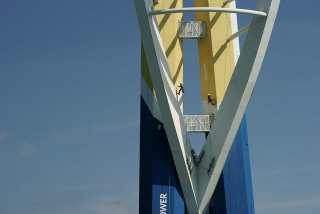 Spinnaker Tower Under the Roller
