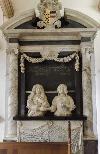 Monument to Sir John and Alicia Brownlow, Ss Peter & Paul church, Belton
