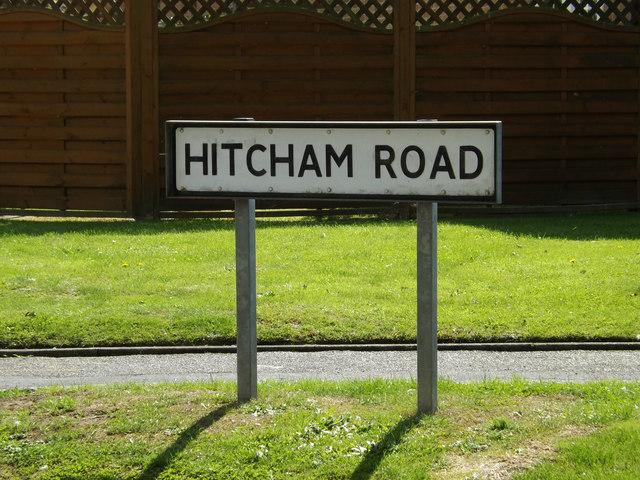 Hitcham Road sign