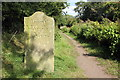 SJ8459 : Milepost and Towpath, Macclesfield Canal by Jeff Buck