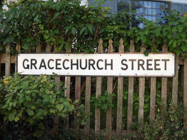 Gracechurch Street sign