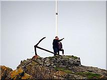 NW9954 : A 'selfie' on Dorn Rock by John Lucas