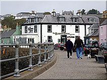 NW9954 : A stroll beside the harbour at Portpatrick by John Lucas
