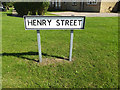 TM1663 : Henry Street sign by Adrian Cable