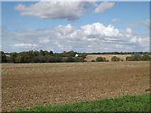 TM1663 : Fields looking towards Derrybrook Farm by Adrian Cable