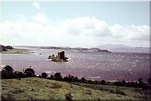 NM9247 : Castle Stalker and Loch Linnhe by Peter Jeffery