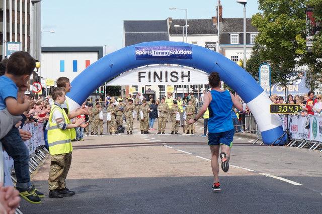 The finish line on the RB Hull Marathon 2015
