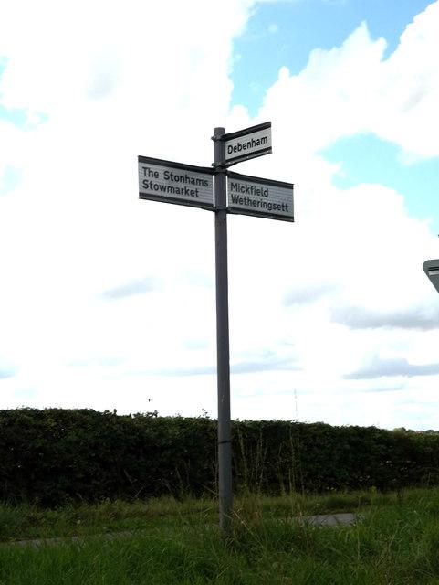 Roadsign on Scott's Hill